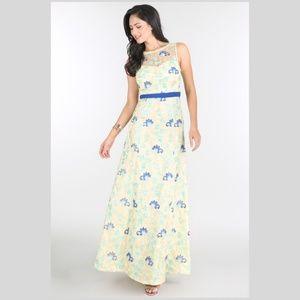 Spring Floral Embroidered Dress